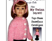 Doll Clothes knitting pattern. Fits American My Twinn (My Bff) 23 inch dolls. 611