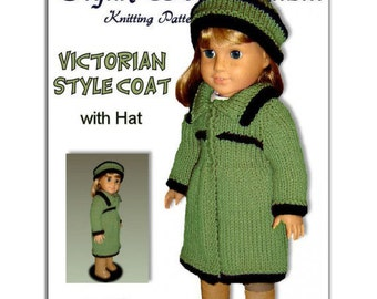 Fits American Girl Doll, knitting pattern, fits all 18 inch dolls PDF Instant Download 026