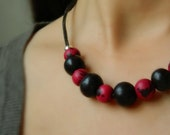 Acai necklace / Amazon Seeds - Sterling Silver & Leather