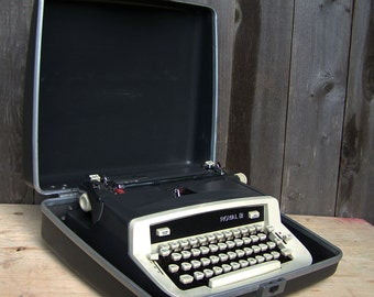 Vintage Charcoal Grey Royal Custom II Typewriter