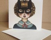 Ceremony - Masked Bunny Girl - Tamer Animals Greeting Card