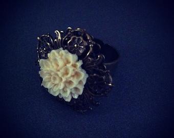 Brass flower Ring