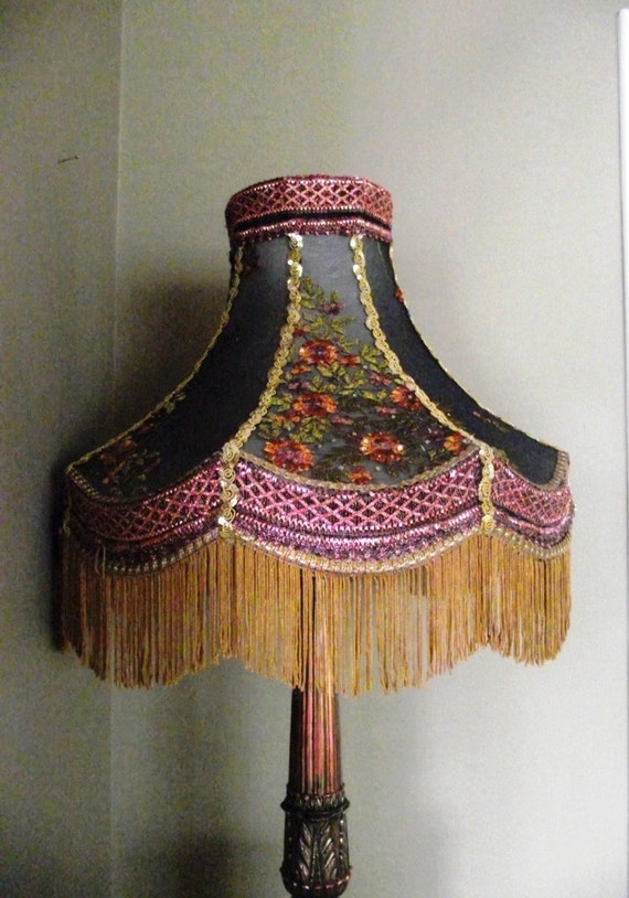 Handmade Lampshade With Copper Accents Save 40% Coupon code JANUARYLAMPSALE