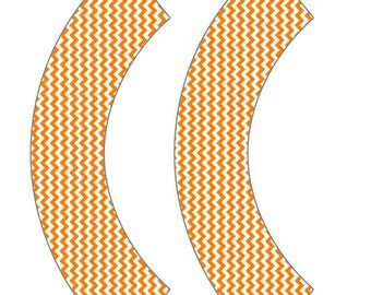 Orange Chevron Cupcake Wrapper