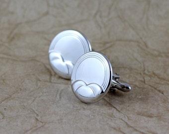 Vintage Cufflinks - Bright Silver Tone Finish - Vintage Swank Men's Jewellery - Formal Wear Accessory - Grooms Gift