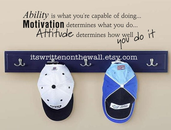 Ability is what you're capable of doing..9x31 Vinyl Lettering Wall saying Sports Quote