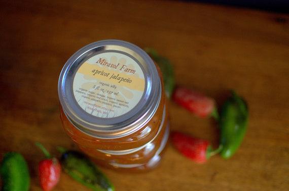 Apricot Jalapeno - Organic Jelly Jam Appetizer Hostess Gift