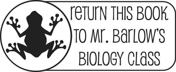 Teacher Gift  Return to classroom with Frog &Teacher name ... Custom  Rubber Stamp