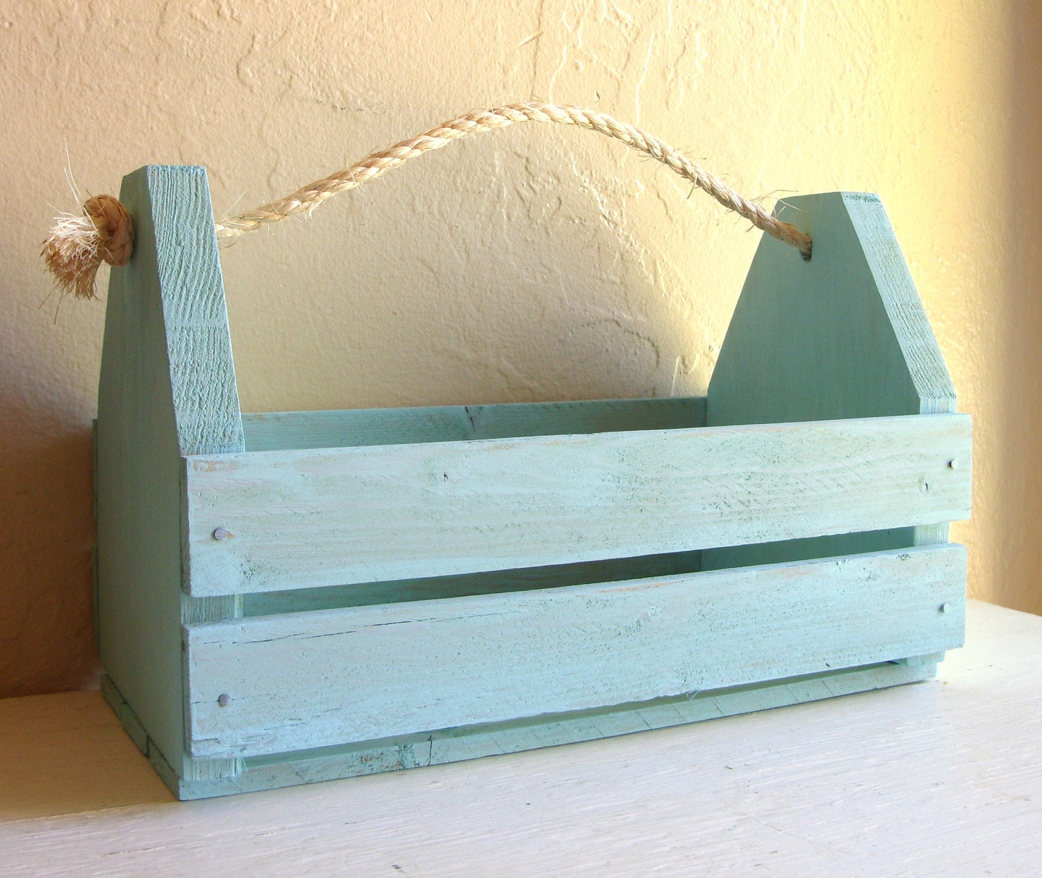 Wood Tool Caddy With Handle