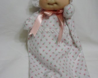 Soft sculptured newborn baby doll puppet -