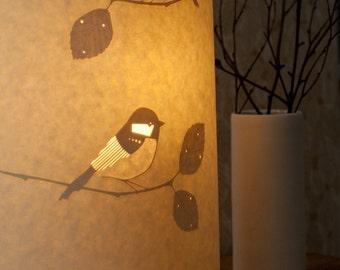 Tall Oval Chikadee lamp