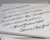 Luxe Aslant Eco-Friendly Wedding Invitation Suite Sample