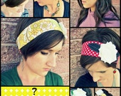 Mystery Bag - One Lillie Wrap - You Choose The Size - FREE SHIPPING - velcro fabric flower headband headwraps