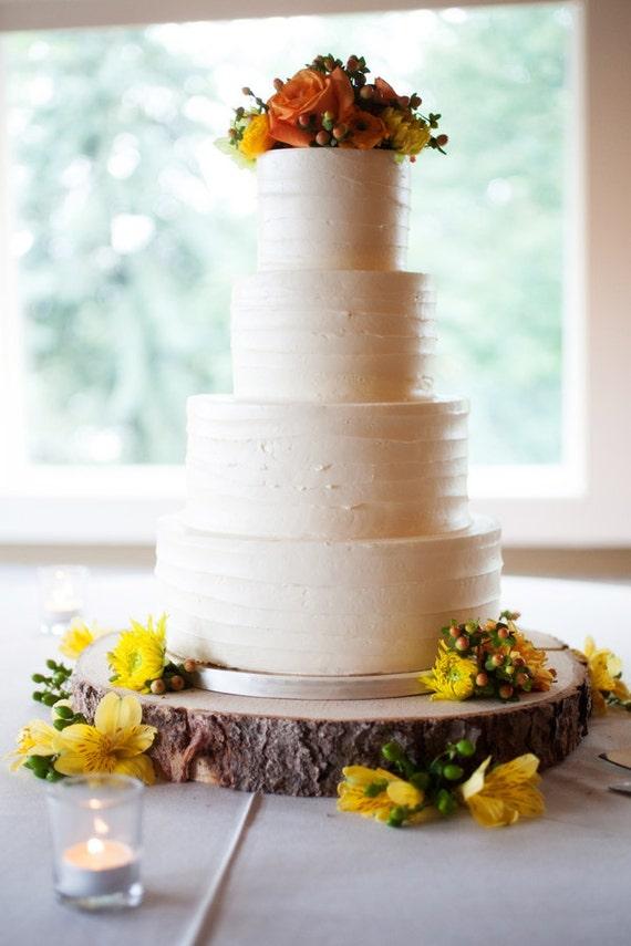 18 Rustic Wood Tree Slice Wedding Cake Base Or By Postscripts
