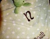 Aorable Blanket Set with Plush- Green Frog-NOAH- SALE