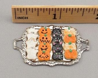 Dollhouse Miniature Halloween Cookie Tray