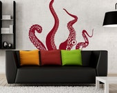 Medium Kraken/Octopus Tentacles Vinyl Wall Decal-Choose Any Color - Pillboxdesigns