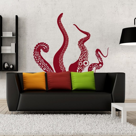 Medium Kraken/Octopus Tentacles Vinyl Wall Decal-Choose Any Color