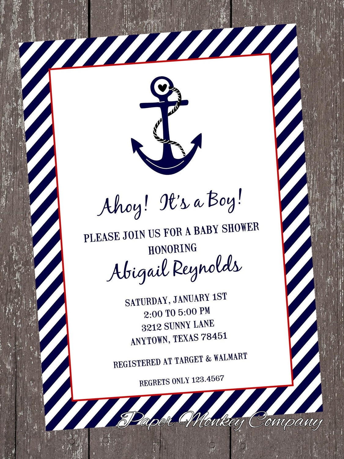 Attractive Nautical Themed Baby Shower Invitations Part - 4: ?zoom