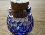 Trippy Blue Honeycombed Jar with Magnifying Lens - Made to Order