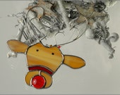 Stained glass Reindeer christmas ornament - FREE POSTAGE