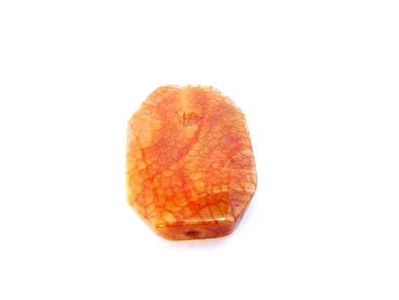 Fire Agate Bead Large