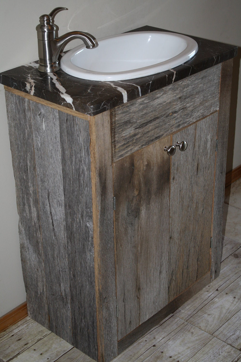 Custom Rustic Small Barn Wood Vanity Or Cabinet For Danny