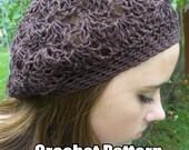 Crochet Pattern A bit of Lace Hemp Tam