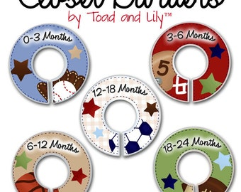 CLOSET DIVIDERS Lil MVP Sports Boys Bedroom and Baby Nursery Art Decor CD0032