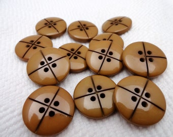 Caramel Vintage Buttons