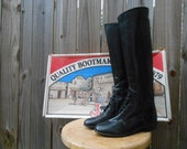 English Riding Boots - Field Style by Justin Boots - Womens Size 5B - VINTAGE - Mint