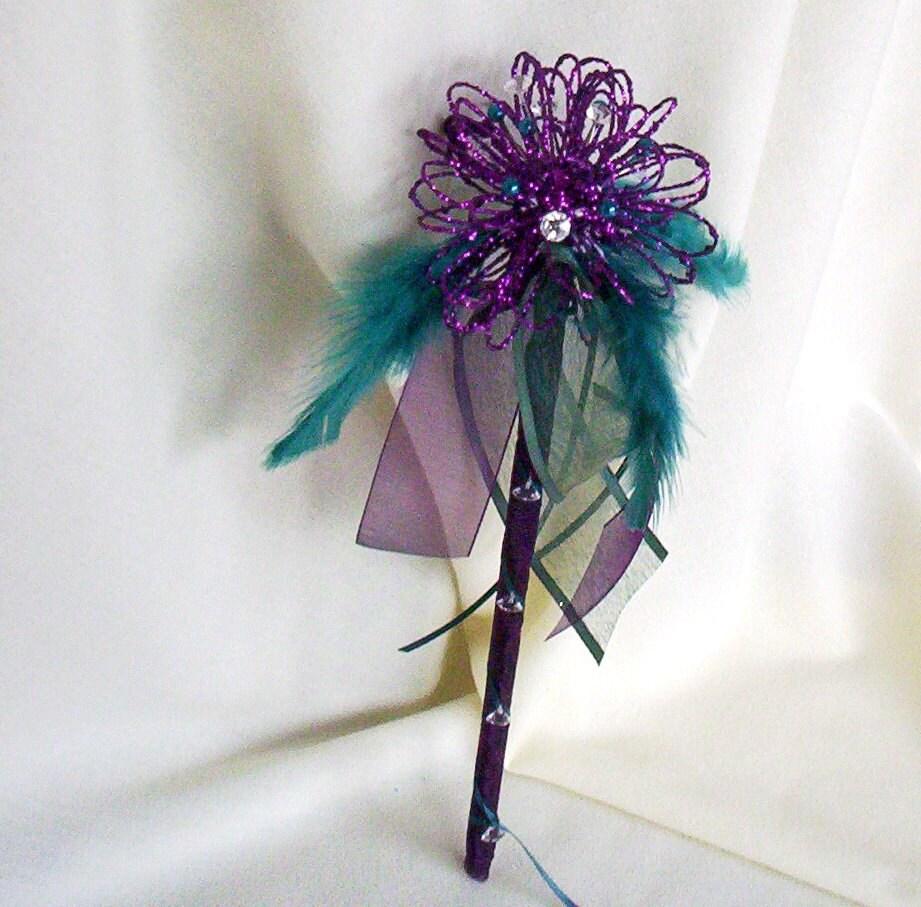 Wedding Party Flower Girl Wand Fairy Princess Glitter Bouquet