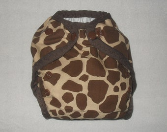 Giraffe print small Diaper cover