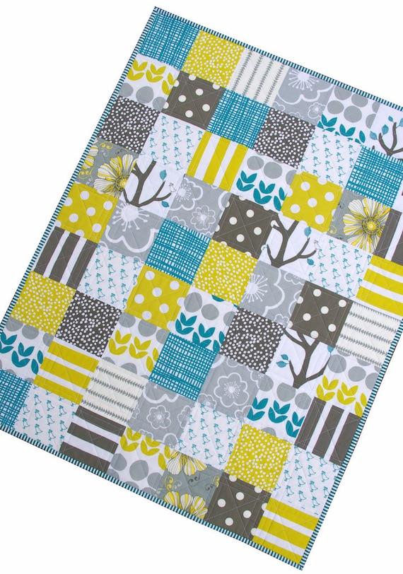 Modern Patchwork Baby Quilt