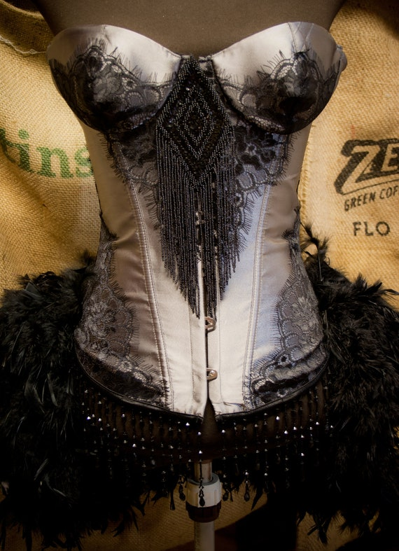 Black Steampunk Corset Burlesque Oufit