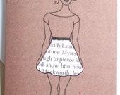 Printed African American Greeting Card 'Word Skirt'