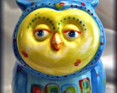 Handmade Ceramic Owl-Ornament-1st in a Limited Series By Lady TPowers