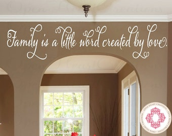 Superior Family Wall Decal   Family Is A Little Word Created By Love   Entrway Living  Room Part 29