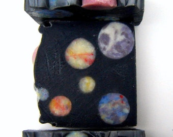 Galaxy Soap /Cold Process Soap / Scented Soap / outer space constellation soap