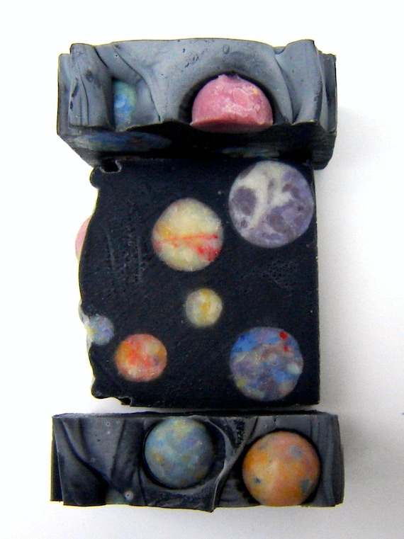 Outer Space Artisan Soap /Cold Process Soap / Mens Soap / Scented Soap / galaxy constellation