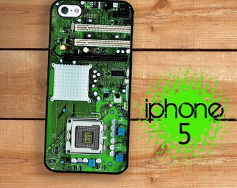 iPhone SE 5S Case Computer Circuit Board Motherboard Plastic or Rubber Case for iPhone 5 iPhone 5S Computer Geek