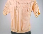 Vintage Mens Shirt / Tribal Print Shirt / Mens Vintage Polo / Saved by the Bell Style