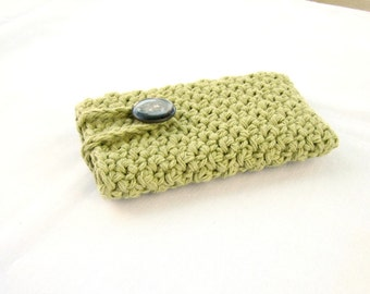 Crochet Phone Case, Cotton Phone Case, cell Phone Cover, cell phone case, buttoned case