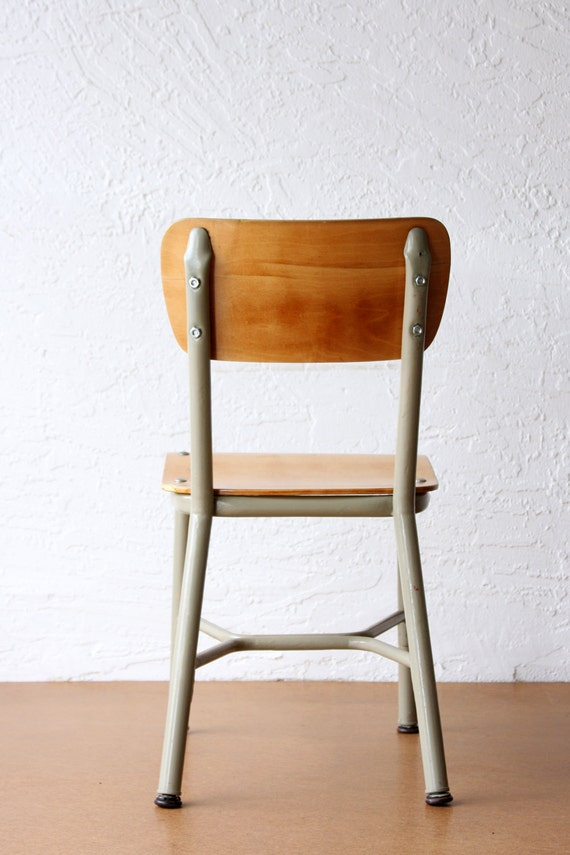 Vintage Child's School Chair Vintage Chair Back to