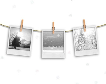 winter home decor, fauxlaroid prints, fine art photography, pine trees, cabin decor, wintry landscape, ski lodge, snowy snow,rustic woodland