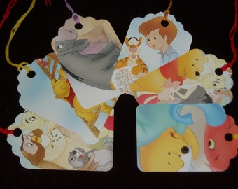 SALE - Recycled Gift Tags - Set of 6 - Bear of Very Little Brain