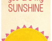 You are my sunshine - cute artwork print