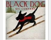 FREE CUSTOMIZATION Black Dog Ski Company Archival Pigment Print Signed