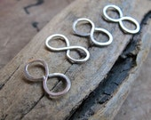 Infinity Link Connector - Sterling Silver Figure Eight - Infinity-symbol Charm for Necklace, Pendant, Bracelet - Infinity Connectors