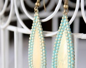 Dangle Earrings | Patina | Beaded Teardrop Earrings